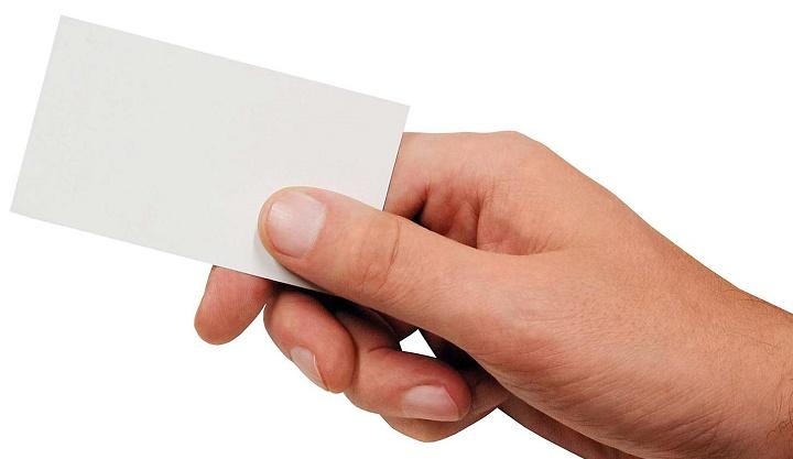 tarjeta de visita en blanco