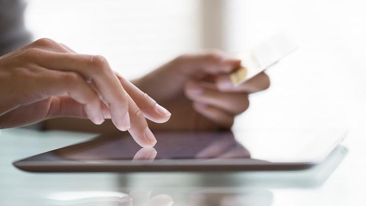 ecommerce tablet